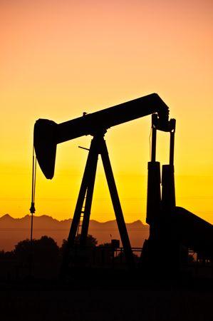 front range: Colorado front range oil field. Stock Photo