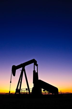 Colorado front range oil field. Stock Photo