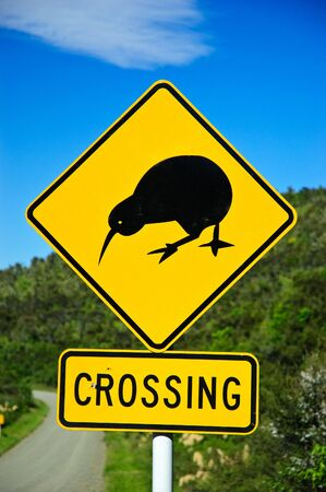 A road sign in New Zealand.