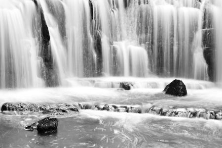 Waterfall in New Zealand photo