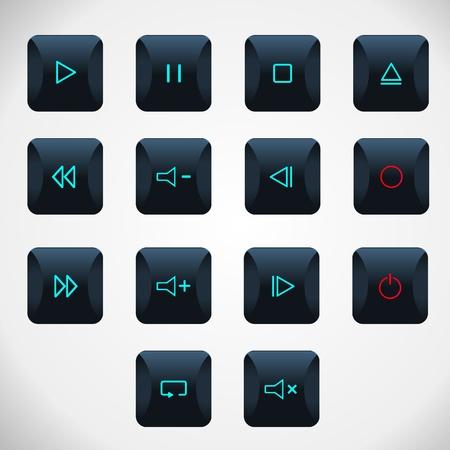 Player button Vector