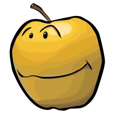yellow apple: Yellow Apple - Golden Delicious