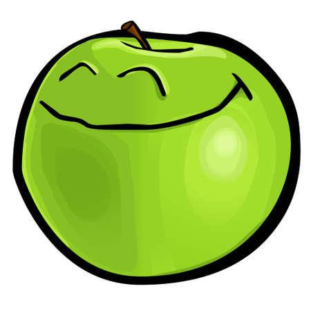 granny smith apple: Green Apple - Granny Smith Illustration