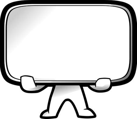 A simple empty board cartoon illustration Stock Vector - 8178698