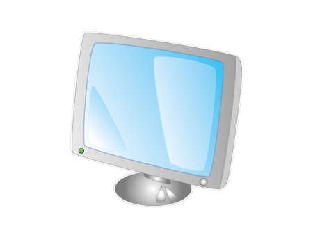 Monitor of a pc in a white background Vector