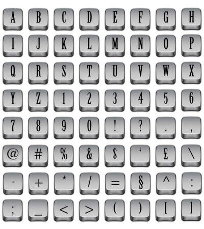 Keyboard keys in white background photo