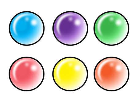 bottons: set dof 6 different colored bottons