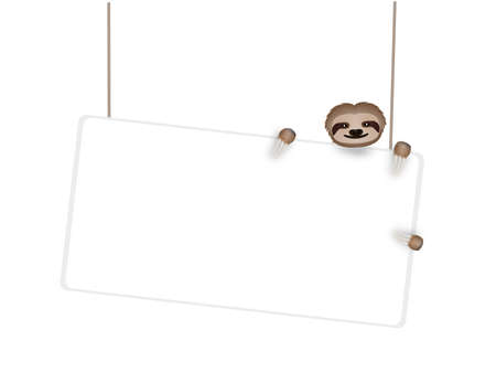 manifest: white board with three-toe sloth