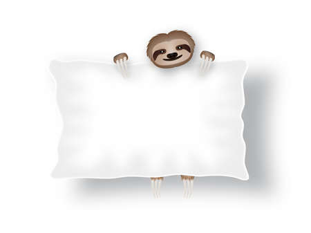 sloth: tablero blanco con la pereza de tres pies
