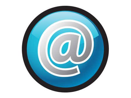botton: email icon botton for websites Illustration