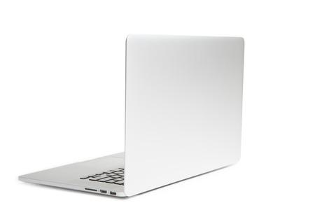 Laptop geïsoleerd op wit Stockfoto