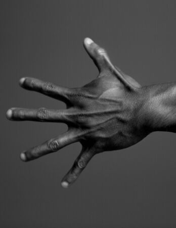 Human Body Hand in Black and White