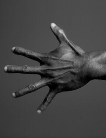 Menselijk lichaam Hand in zwart en wit