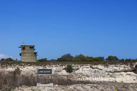 political prisoner: The lime quarry on Robben Island where Nelson Mandela used to work Editorial