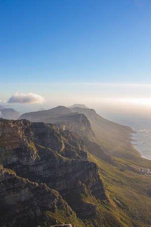 The Twelve Apostles mountain range seen from Table Mountain