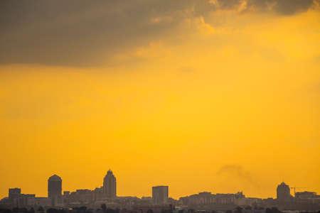 johannesburg: Sandton Skyline, Johannesburg during an Orange, Moody Sunset