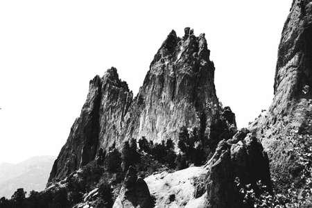 jagged: Sharp jagged rock formation