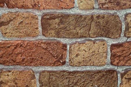 Brick texture on a concrete wall.  Stock Photo