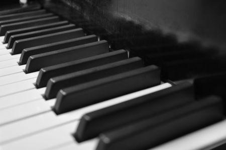 Piano keys waiting to make beautiful music