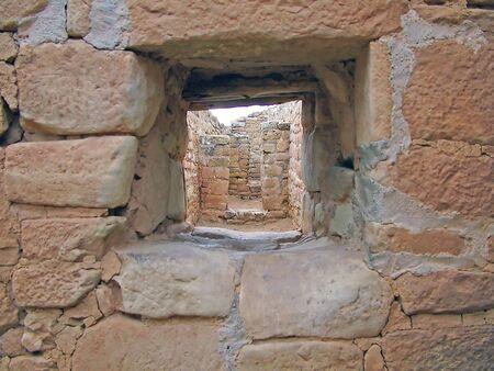 Peephole Through New Mexican Ruins