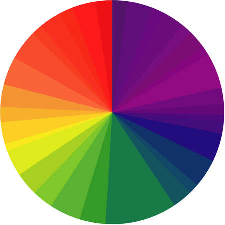 Rainbow spectral circle isolated on black. Illustration. Stock Photo