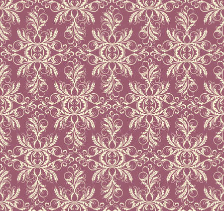 ideally: Elegant decorative floral seamless pattern ideally for wallpaper