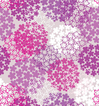 Decorative seamless colorful flower background in purple tones Illustration