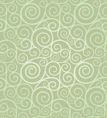 green swirl: Abstract elegant swirl seamless composition made of spirals