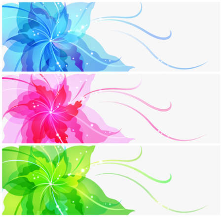 yelow: Abstract colorful flower background in 3 variants Illustration