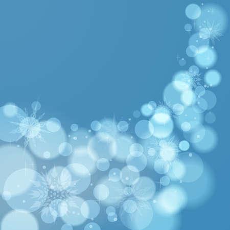 Light blue abstract Christmas  Vector