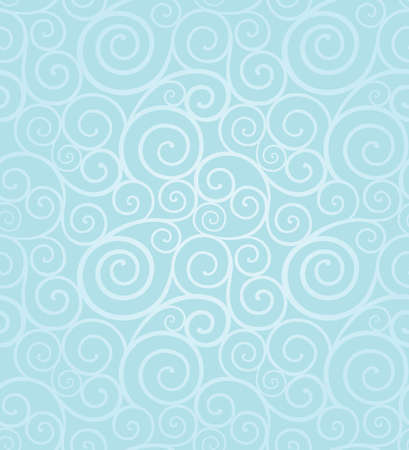 Abstract frosty winter swirl seamless composition made of spirals