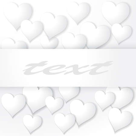 tatting: Background with hearts and banner for St Valentine s Day etc