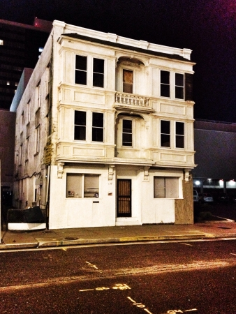 condemned: Condemned building in the middle of Atlantic city.  Stock Photo