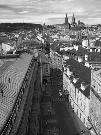 Prague panorama - as seen from the Powder Tower photo