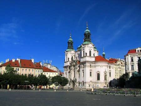 Prague - Old Town Square, St. Nicholas Church photo