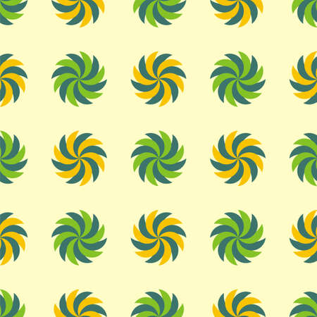 vegetal: Seamless texture - a pattern of spiral vegetal green and yellow elements repeating seamlessly Stock Photo