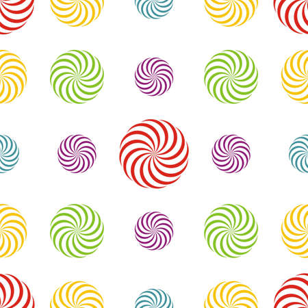 many coloured: Seamless texture - a pattern of multiple coloured abstract rotating elements repeating seamlessly