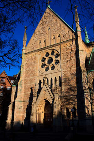 oscars: Oscars Kyrka in Ostermalm, Stockholm (Sweden) - front view (detail) Stock Photo