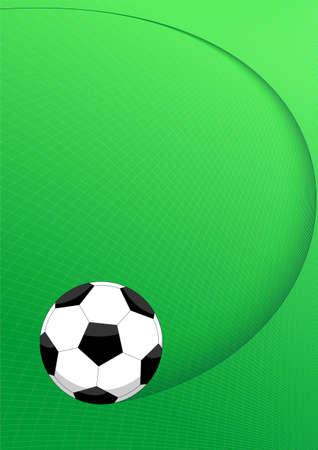 trajectoire: Ballon de soccer sur un fond vert avec la trajectoire (illustration)