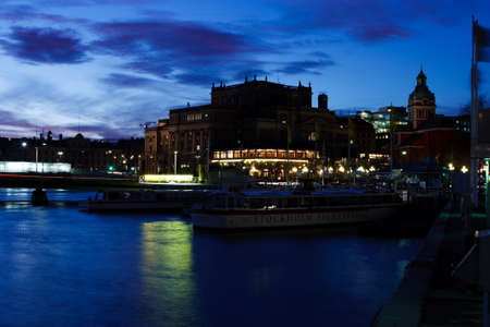 norrmalm: An evening shot in Norrmalm (Stockholm, Sweden) Stock Photo