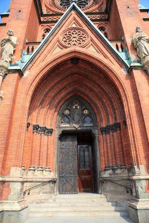 johannes: St. Johannes Church in central Stockholm - main entrance