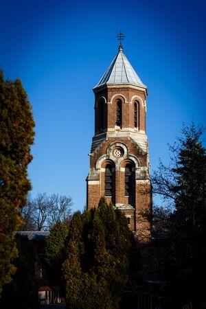 Curtea de Arges Cathedral. A famous religious architectural landmark in Curtea de Arges, Romania.