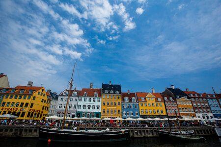 Nyhavn canal in Copenhagen, Denmark. Daylight shot
