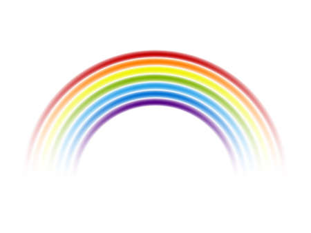 Colour rainbow isolated on white background. Vector illustration.