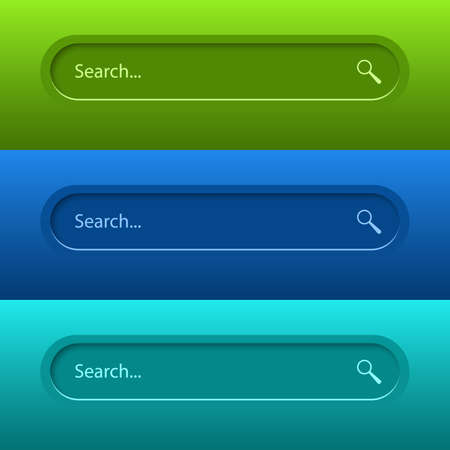 Search Bar for ui, design and web site. Search Address and navigation bar icon. Vector collection of search form templates for websites.