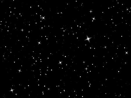 Starry sky. Dark night sky. Infinity space with shiny stars. Mystery dark Universe. Vector background. Vector Illustration