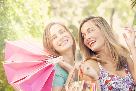 Happy Friends Shopping photo