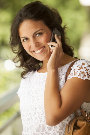 cel: Woman on the phone