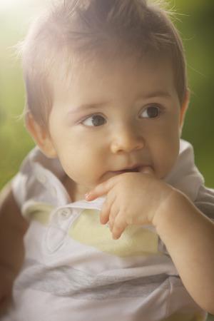 8 9 months: Baby Boy Portrait