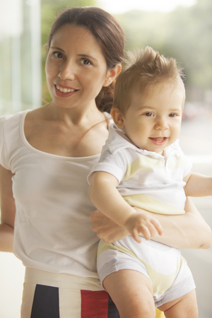 6 12 months: Mother with baby